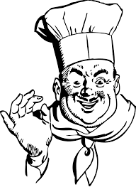 Chef Clipart Black And White