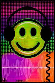 Audio Smile Flocked Blacklight Poster