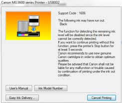 The Printer Will Try To Print Then Following Message Pop Up