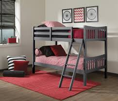 duro chicago twin over twin bunk bed black hayneedle