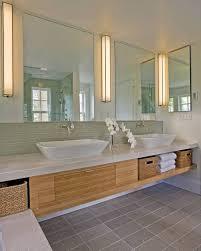 floor wood vanity modernes badezimmerdesign
