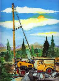 Water Well Drilling Truck Art Print Oil Gas Plumber Pump Drill Mack ... Drilling Contractors Soldotha Ak Smith Well Inc 169467_106309825592_39052793260154_o Simco Water Equipment Stock Photos Truck Mounted Rig In India Buy Used Capital New Hampshires Treatment Professionals Arcadia Barter Store Category Repairing Svce Filewell Drilling Truck Preparing To Set Up For Livestock Well Repairs Greater Minneapolis Area Bohn Faqs About Wells Partridge Cheap Diy Find Dak Service Pump