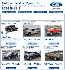 New Ford Car & Truck Sale In Boston MA - New Ford Deals | Colonial ... Fremont Motor Sheridan Ford Dealership In Wy Ram 3500 Price Lease Deals Corsicana Tx Chevy Dealer Nh Gmc Banks Autos Concord Best New Car Canada July 2017 Leasecosts Silverado 1500 Quirk Chevrolet Near Boston Ma Truck Specials Massachusetts Trucks 0 The On Days Of Year To Buy A Or And Offers Stoneham Truck Deals 2018 Mission Tortillas Coupon Whats The Newcar Deal For October News Carscom Augusta Ga Milton Ruben Serving Evans Aiken Gjovik Inc Dealership Sandwich Il 60548