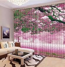 custom 3d vorhang schöne rosa blumen wohnzimmer schlafzimmer foto vorhänge 3d einfache rosa blackout vorhang