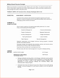 Army Resume 88m Sample Template