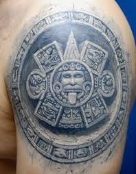 Inca Tribal Tattoo On Shoulder