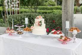 Park Hyatt Aviara Resort Wedding Reception Rosegold Dessert Table For Vintage Style