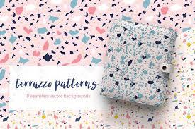 Terrazzo Seamless Patterns Graphic Creative Market