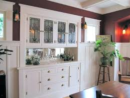 Built In Buffet Small Dining Room Design Ideas Craftsman With Bungalow Cabinet