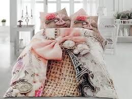 100% Cotton Paris Bedding Set Eiffel Tower Duvet Cover Set Full