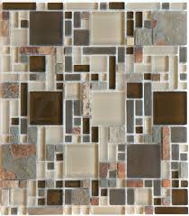 glass and mosaic tile luxe rustic mix multi size slate