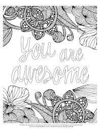 Printable Inspirational Quotes Coloring Pages Inside Best Of