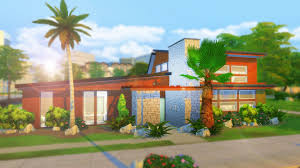 100 Mid Century House The Sims 4 Building MID CENTURY FAMILY HOME Facecam YouTube