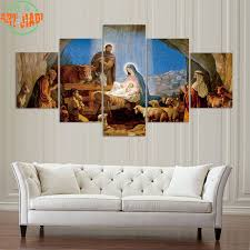 4 Piece Set Or 5 Pieces Canvas Art The Birth Of Christian Jesus