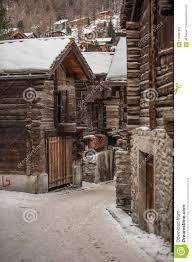 100 Log Cabins Switzerland Old Streets In Zermatt Stock Image Image Of Famous