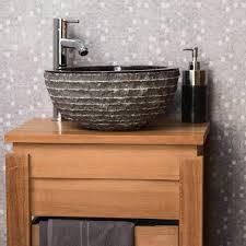 vasque à poser en marbre vesuve noir 35cm 289 plomberie