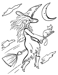 Printable Witch Coloring Sheet