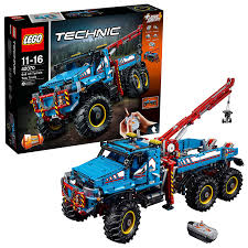LEGO 42070 Technic 6x6 All Terrain Tow RC Truck Toy Motor Kit, 2 In ...