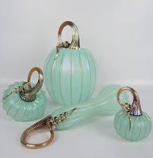 Glass Blown Pumpkins by Signed Set Of Jack Pine Hand Blown Art Glass Pumpkins And Gourds