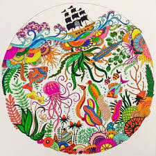 Lost Ocean By Johanna Basford Coloring CanvasAdult ColoringColoring BooksHow To
