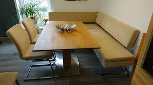 esszimmer stühle sitzbank eckbank sitzecke beige freischwinger