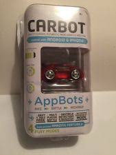 brookstone carbot red race car micro robotic app controlled