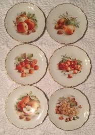 schumann cuisine schumann arzberg germany fruit gold trim 7 5 dessert plates set 6