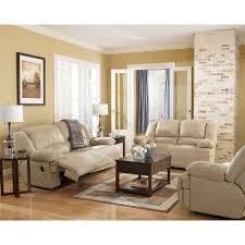 hogan khaki reclining living room set signature design by ashley