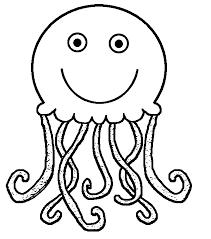Black clipart jellyfish 2