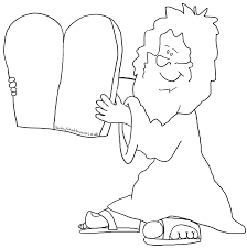 New Coloring Page Sunday School Page Moses The Ten New 10