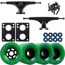 Bear 852 Black Longboard Trucks Wheels Package Bigfoot 90mm Cored ...