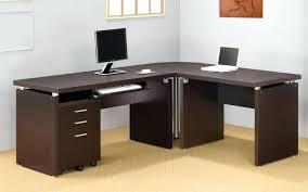 Techni Mobili L Shaped Computer Desk computer desks l shaped glass corner computer desk silver clear