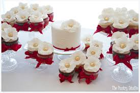 Red And Gold Holiday Cake Cupcake Dessert Table
