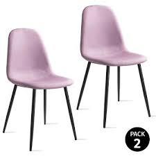mc haus pack 2 stühle esszimmer afra farbe rosa 57 5 x 47 x