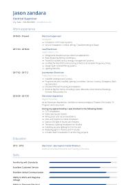Electrician - Resume Samples & Templates   VisualCV