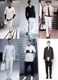 Black And White Fashion For Men