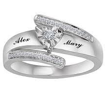 1 10 Ct Tw Diamond Heart Ring