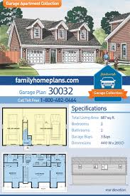 100 Living In A Garage Apartment Traditional Style 3 Car Partment Plan Number 30032 With 2 Bed 2 Bath