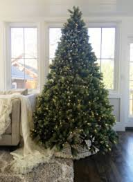 Mountain King Christmas Trees 9ft by 9 Foot Artificial Christmas Trees 9 Foot Prelit And Unlit Trees