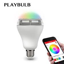playbulb bluetooth speaker smart dimmable led light bulbs color