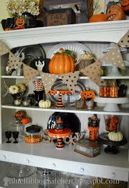 Blue Ribbon Kitchen HALLOWEEN HUTCH Halloween Fall Decor Decorating Ideas Orange And Black