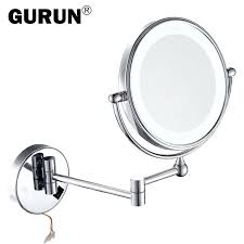 magnifying bathroom mirror with light uk table top lighted make up