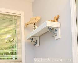decorative diy shelf brackets with nautical bookends completely