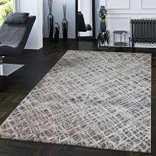 wohnzimmer teppich 3d rauten grau weiß