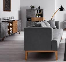 1 sofa in grau oder rosa füße aus holz bezug aus
