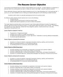Career Objective Of Resume Example Human Resources Examples
