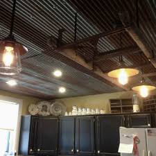Awesome Corrugated Tin Ceiling 5 Kitchen More
