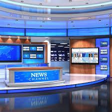 3d Virtual Set News Studio Model Premium 3D Models Pinterest