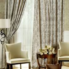 Interior Country Living Room Curtain Ideas Features With Two