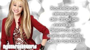 Rockin Around The Christmas Tree Karaoke Miley hannah montana rockin u0027 around the christmas tree traducción en